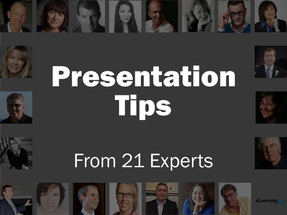 Presentation Tips from 21 Experts