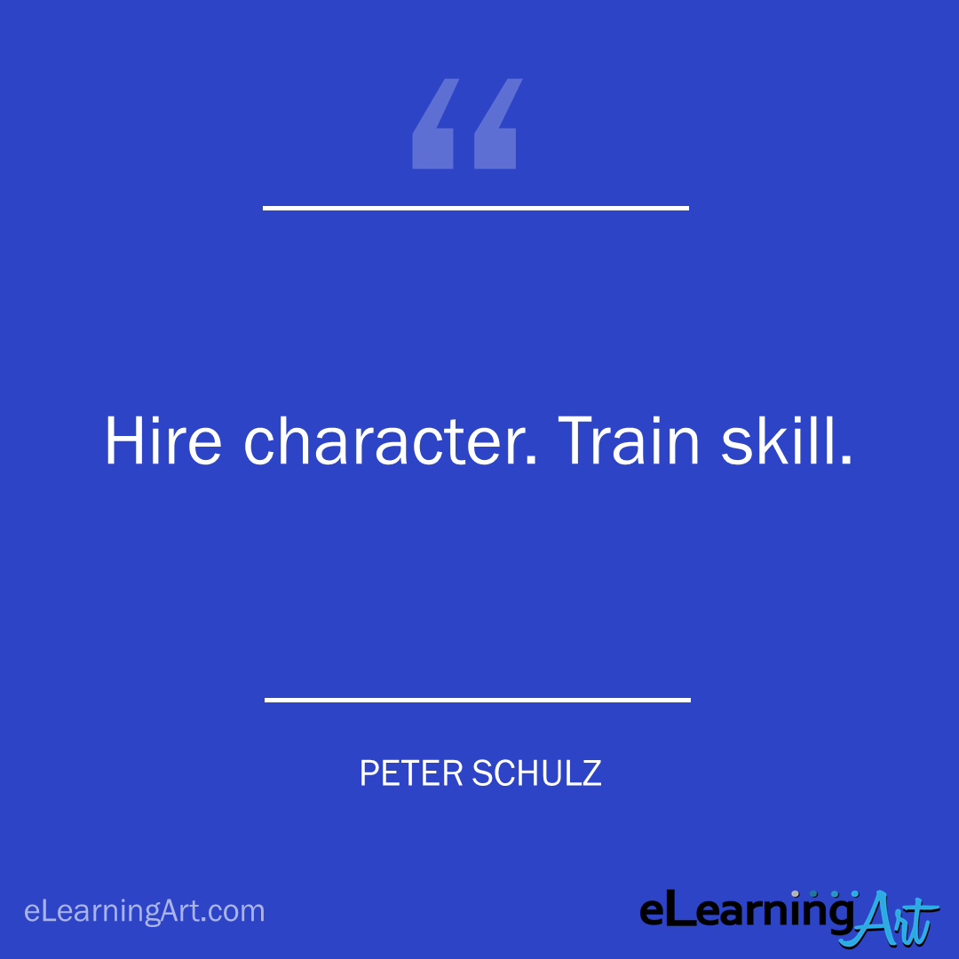 Training Quote - peter schulz: Hire character. Train skill.