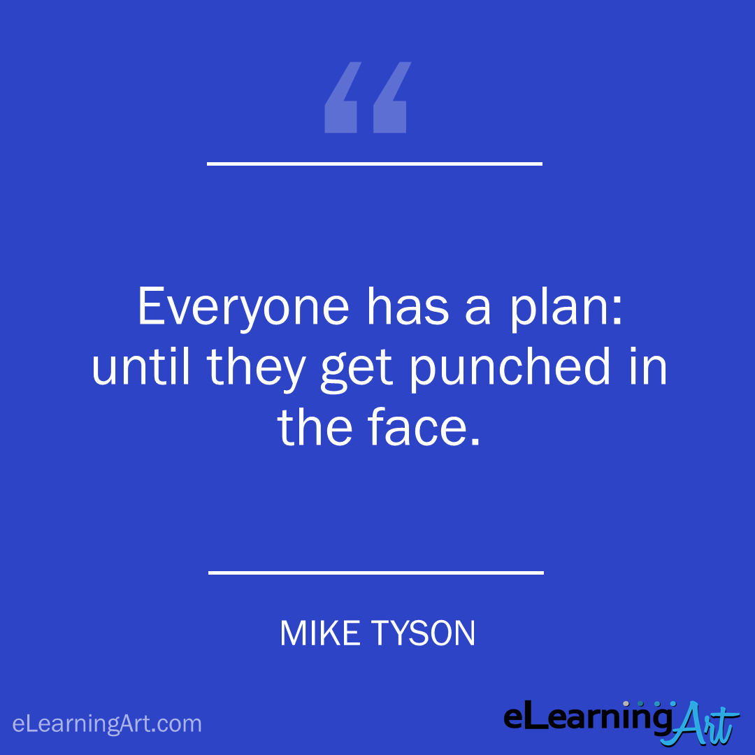 project management quote - mike tyson: Everyone has a plan: until they get punched in the face.
