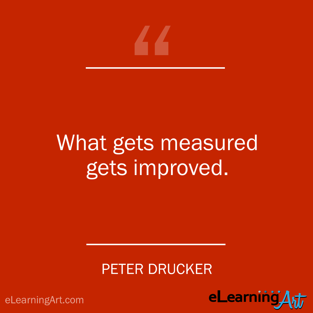 project management quote -peter drucker: What gets measured gets improved.