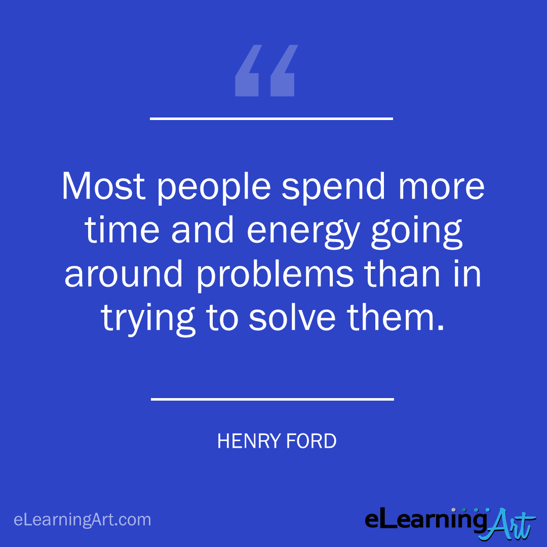 project management quote - henry ford: Most people spend more time and energy going around problems than in trying to solve them.