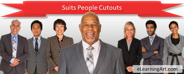 Suit people cutouts | eLearning characters
