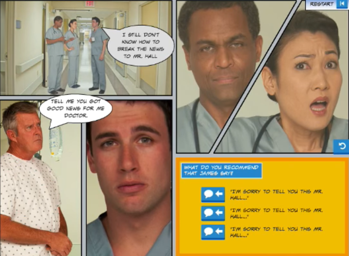eLearning Example: Medical Comic Scenario