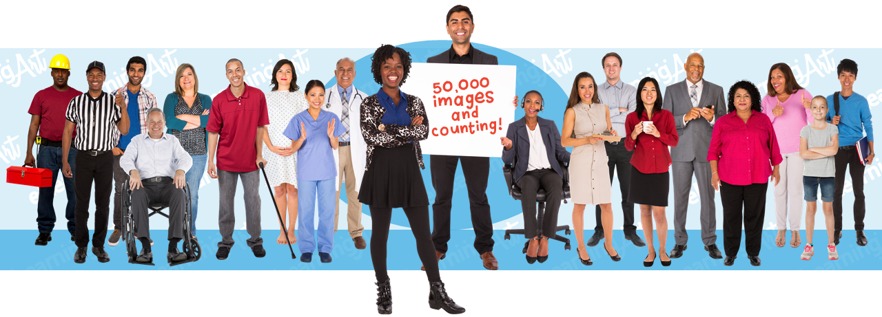 eLearning Characters | People Cut Out Images