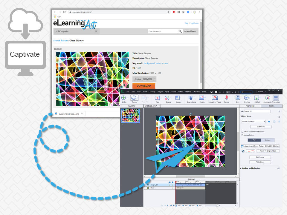 Adobe Captive Image Shortcut with eLearningArt