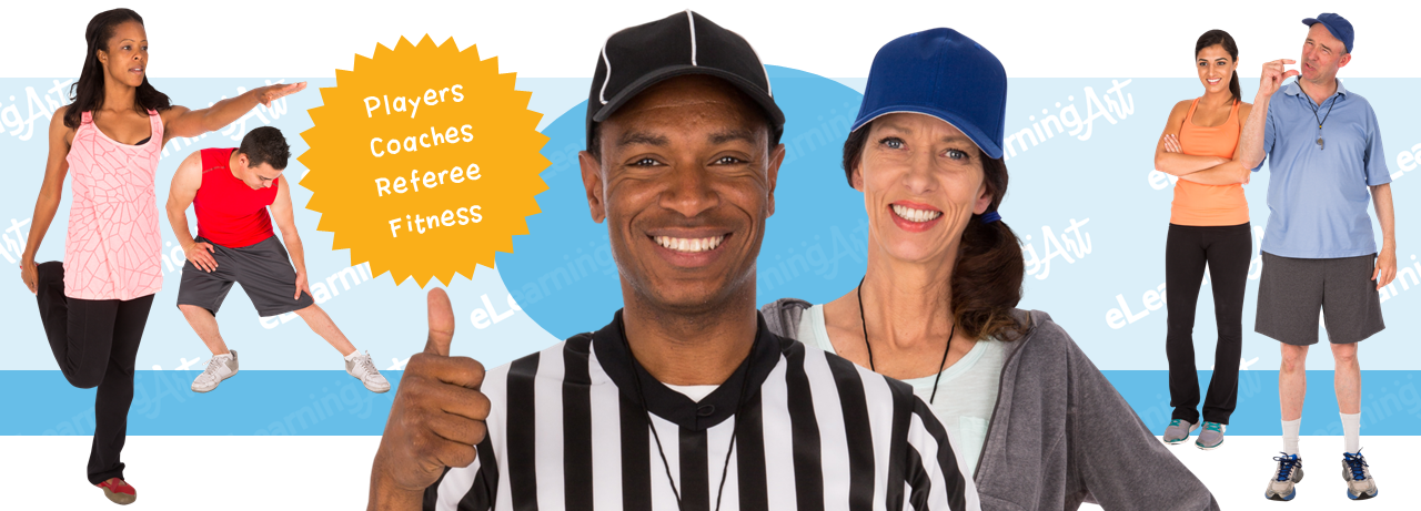 Athletic eLearning Characters - Cut Out People as Referees, Coaches, and Athletes