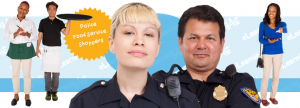 Specialty eLearning Characters - Cut Out People as Police, Food Servers, and Retail