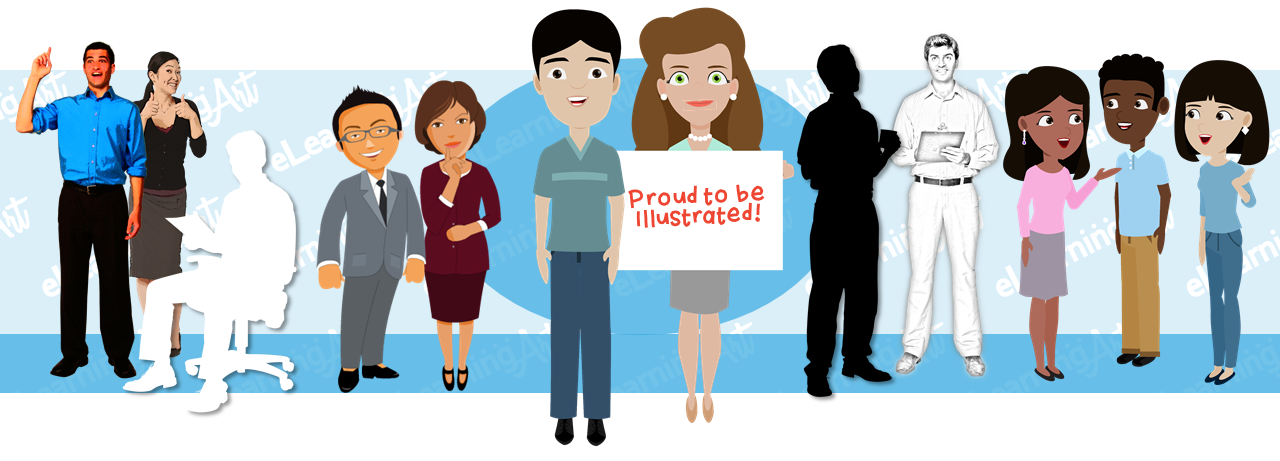 Illustrated eLearning Characters - Thousands of Characters in Matching Styles