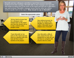 Adobe Captivate Example - Realistic Conversation Scenario with Characters