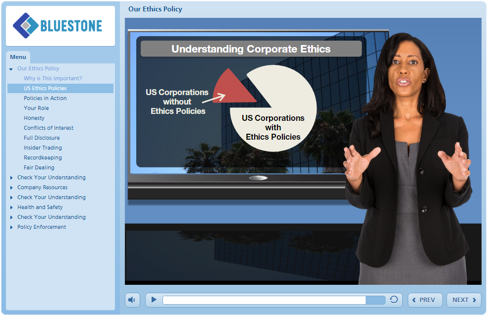 Articulate Storyline Example - Avatar as Course Guide