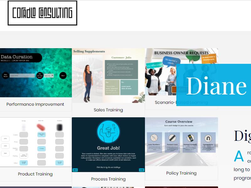 eLearning Portfolio Example - Diane Coradlo
