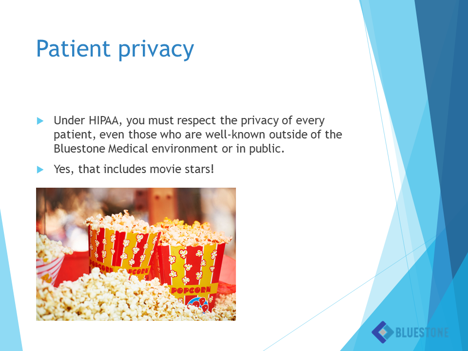 Bad eLearning Example - Patient Privacy