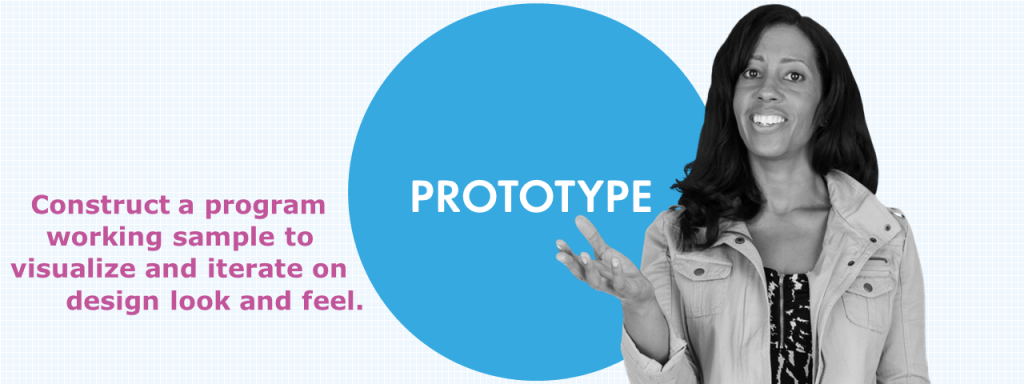 eLearning Prototype - Construct a program working sample to visualize and iterate on design look and feel.